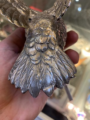 Lot 8-A large Continental silver model of a cock pheasant