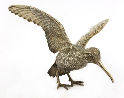 Lot 9-A Continental silver model of a woodcock