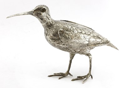 Lot 6-A Continental silver model of a jack snipe