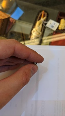 Lot 5-A Sampson Mordan gilt metal novelty propelling toothpick