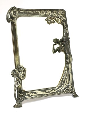 Lot 57 - A WMF silver-plated easel mirror