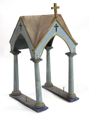 Lot 405A - A PAINTED PINE TABERNACLE