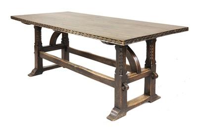 Lot 263 - An oak refectory table