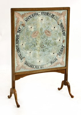 Lot 161 - An embroidered panel