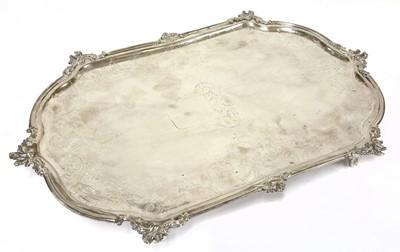 Lot 36 - A Dutch silver tray