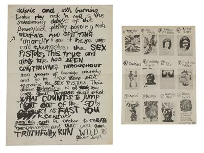 Lot 545 - A Sex Pistols Oliver Twist 'Dickensian' flyer