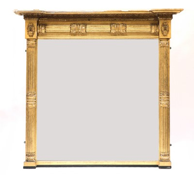 Lot 69 - A large George IV gilt overmantel mirror