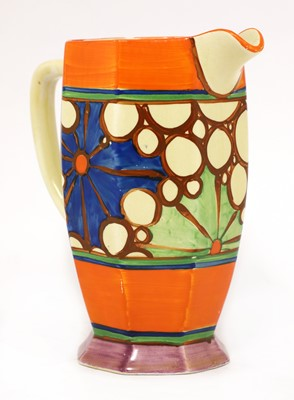 Lot 366 - A Clarice Cliff broth 'Athens' jug