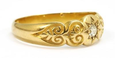 Lot 24 - An 18ct gold diamond ring