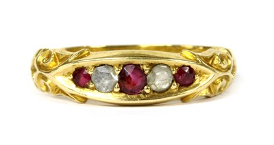 Lot 31-A 15ct gold ruby and diamond ring
