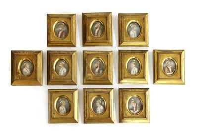 Lot 523 - A collection of eleven Moghul portrait miniatures