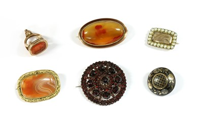 Lot 21-A collection of Victorian brooches