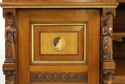 Lot 45-A walnut and maple compactum