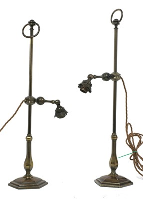 Lot 70 - A pair of Faraday & Sons adjustable library lamps