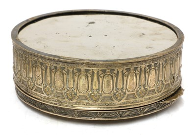 Lot 13-An interesting silver-plated jewellery box