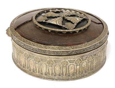 Lot 13 - An interesting silver-plated jewellery box