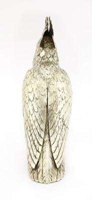 Lot 10-A Continental silver model of a cockatoo
