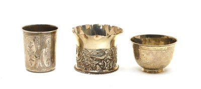 Lot 11-A Continental silver beaker with engraved decoration