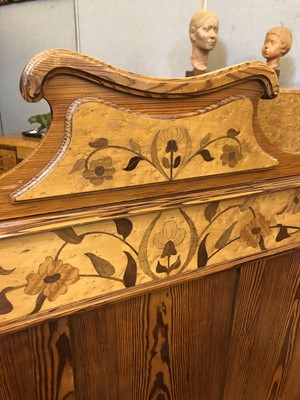 Lot 23 - Two Art Nouveau pine and bird's-eye maple beds