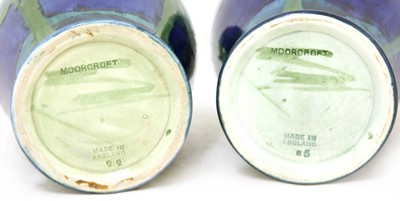 Lot 217 - Two Moorcroft 'Moonlit Blue' vases