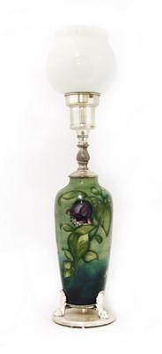 Lot 209 - A Moorcroft table lamp