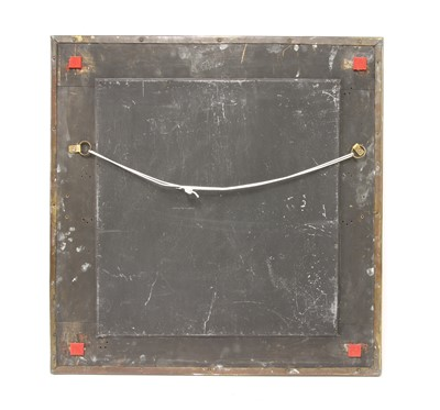 Lot 37-An Arts and Crafts embossed brass mirror