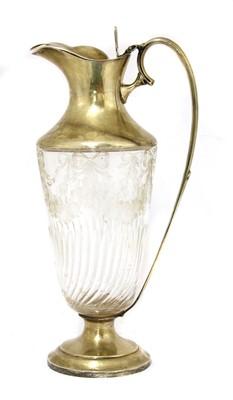 Lot 2-A silver claret jug