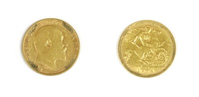 Lot 16-Coins, Great Britain, Edward VII (1901-1910)