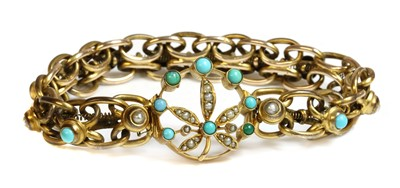 Lot 91 - A late Victorian hollow gold expanding bracelet