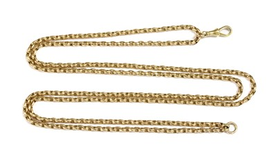 Lot 16-A gold oval belcher link part guard chain