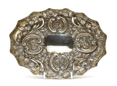 Lot 4-A late Victorian embossed silver tray