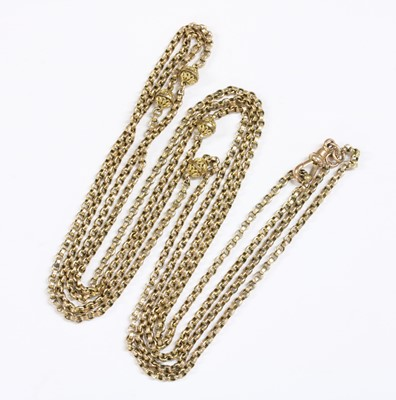 Lot 17-A gold belcher link guard chain