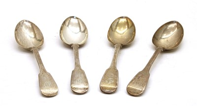 Lot 13-A set of four early Victorian silver dessert spoons