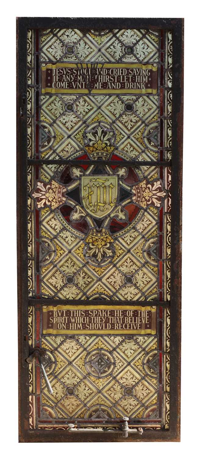 Lot 6 - A stained lead glass window