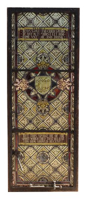 Lot 6-A stained lead glass window