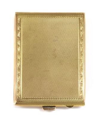 Lot 176 - An Art Deco 9ct gold rectangular match book case by S J Rose