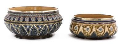 Lot 8-A Royal Doulton stoneware fruit bowl
