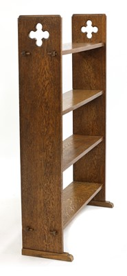 Lot 17 - An Arts and Crafts four-tier open bookshelf