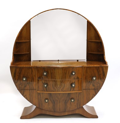 Lot 39 - An Art Deco-style walnut veneered dressing table