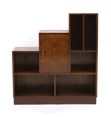 Lot 40 - An Art Deco walnut stepped bookcase