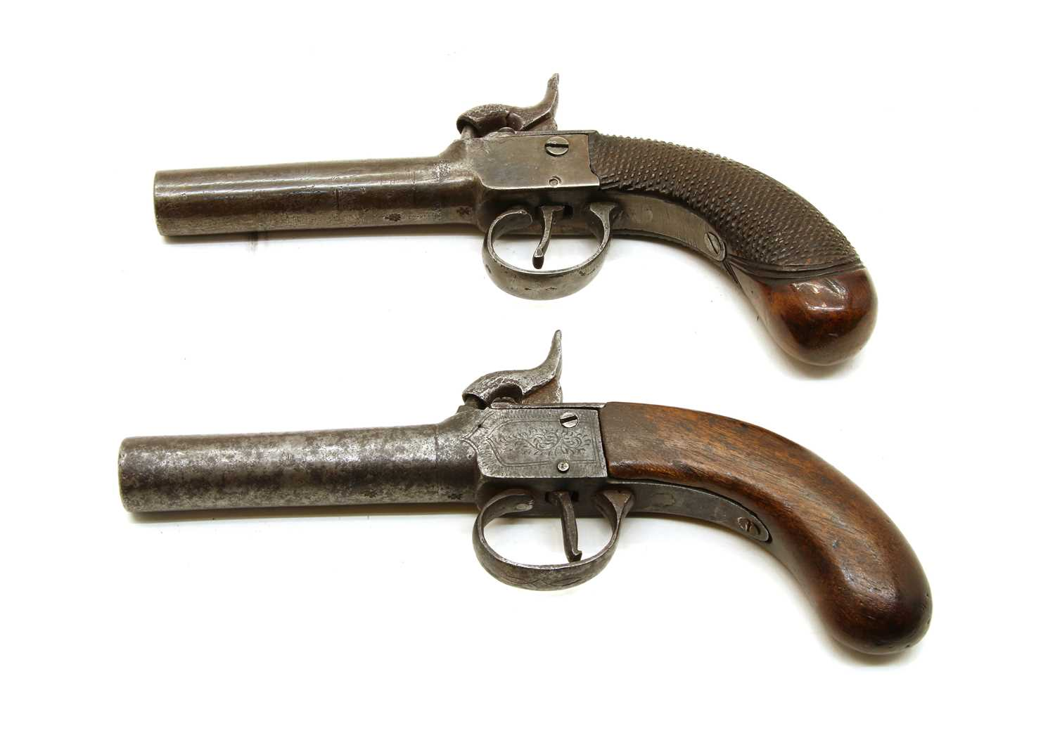 Lot 3 - Two 19th century percussion pocket pistols