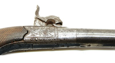 Lot 4-Berry, London, a percussion round framed pocket pistol
