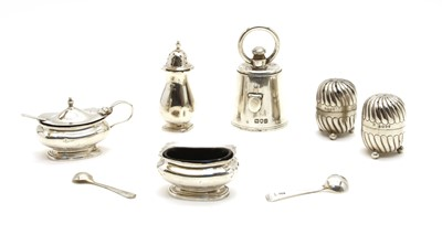 Lot 5-Silver items including a 'weight' pepper grinder by Jane Brownett