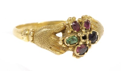 Lot 18-A Regency gold, gemstone and pearl butterfly brooch, c.1820