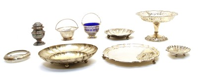 Lot 10A-A collection of silver and silver plate