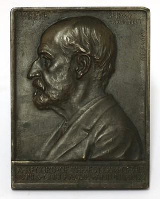 Lot 31 - A bronze plaque of Richard Phene Spiers