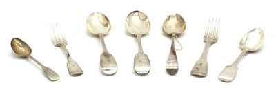 Lot 22-A George III silver table spoon