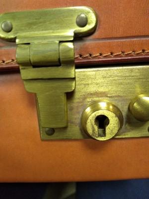 Lot 141 - A Swaine Adeney tan leather briefcase