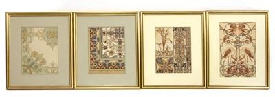 Lot 33A - A group of seven Art Nouveau architectural designs