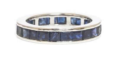 Lot 193 - A sapphire full eternity ring